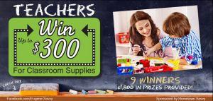 Teachers Classroom Supply Contest
